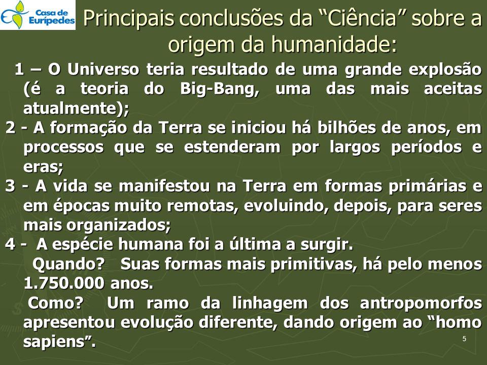 Principais conclusões da Ciência sobre a origem da humanidade: