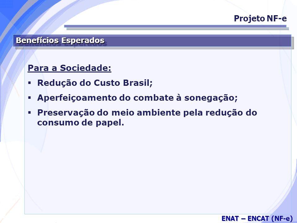 Redução do Custo Brasil; Aperfeiçoamento do combate à sonegação;