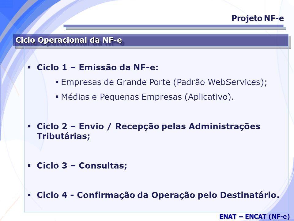 Ciclo 1 – Emissão da NF-e: