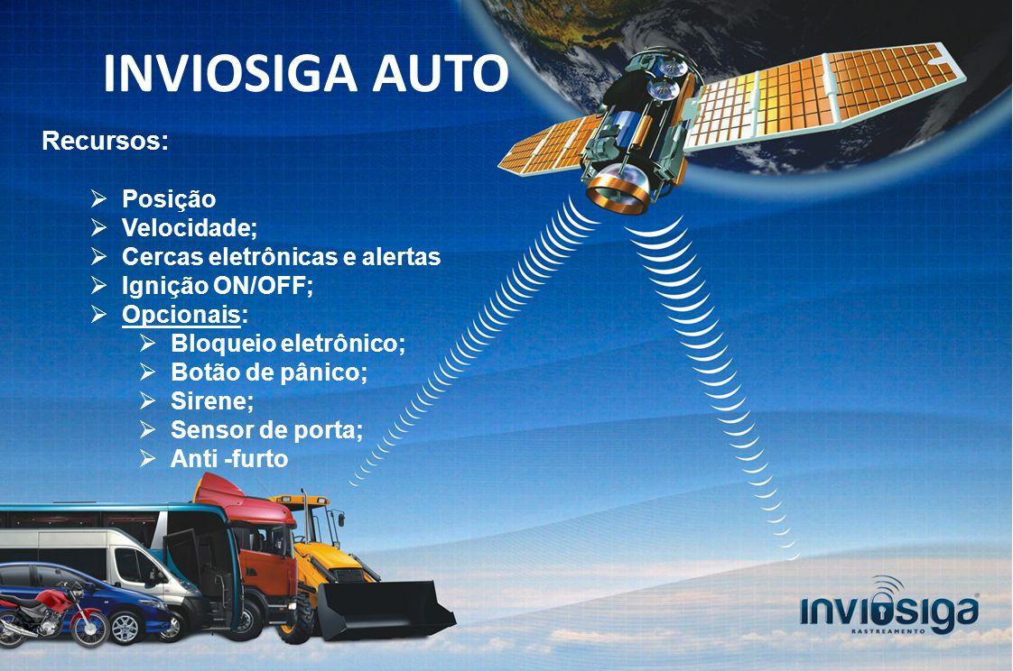 INVIOSIGA AUTO Recursos: Posição Velocidade;