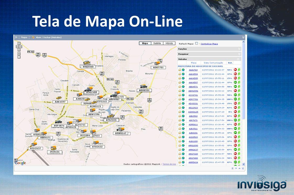 Tela de Mapa On-Line