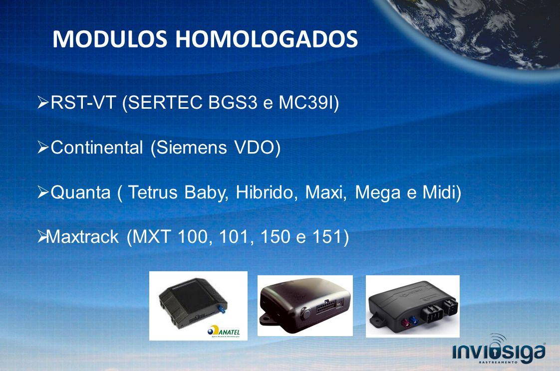 MODULOS HOMOLOGADOS RST-VT (SERTEC BGS3 e MC39I)