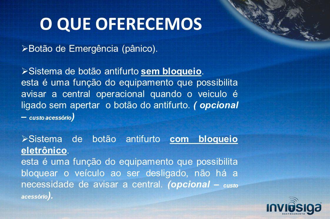 O QUE OFERECEMOS Botão de Emergência (pânico).