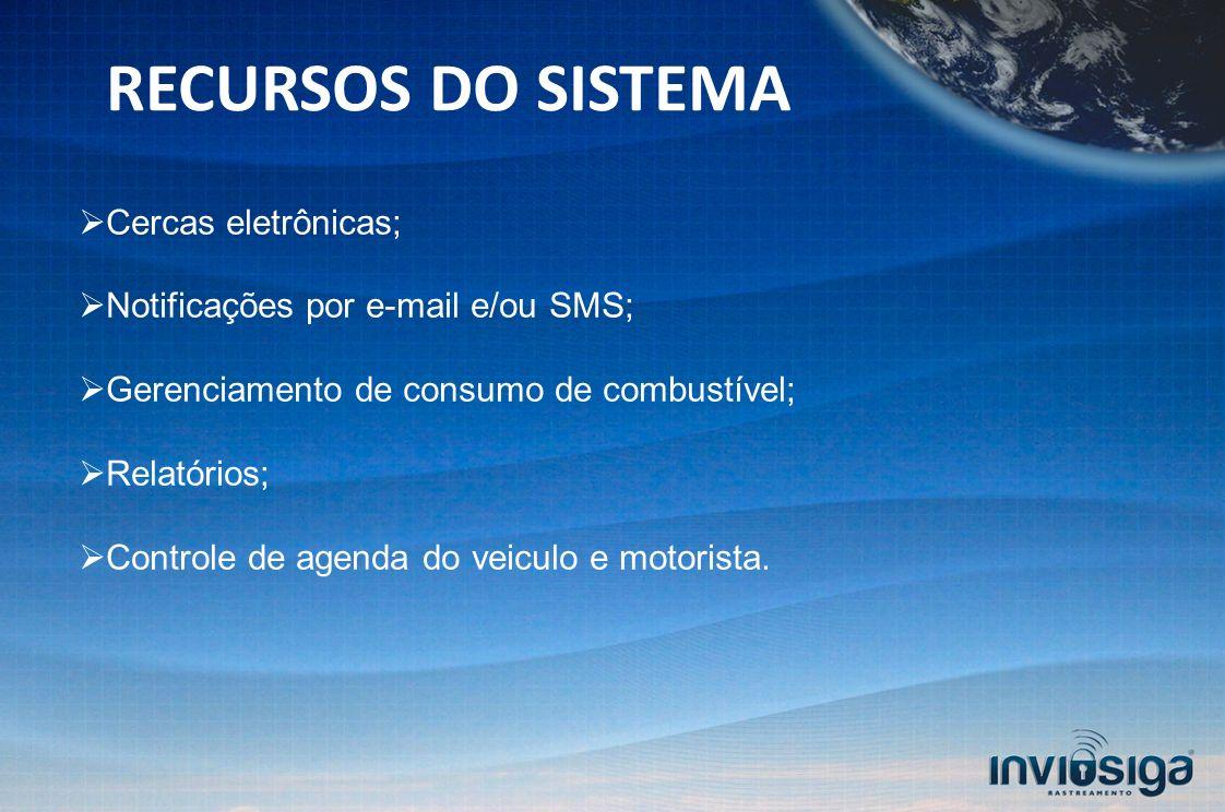 RECURSOS DO SISTEMA Cercas eletrônicas;