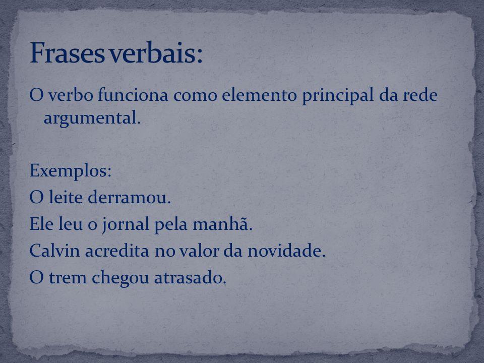Frases verbais: