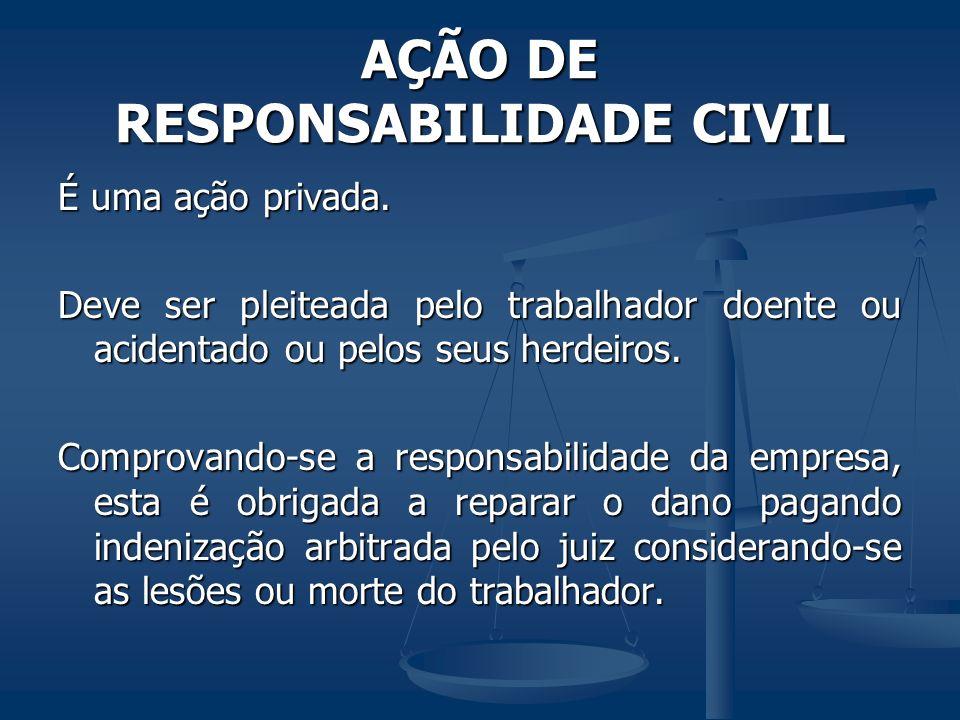 AÇÃO DE RESPONSABILIDADE CIVIL