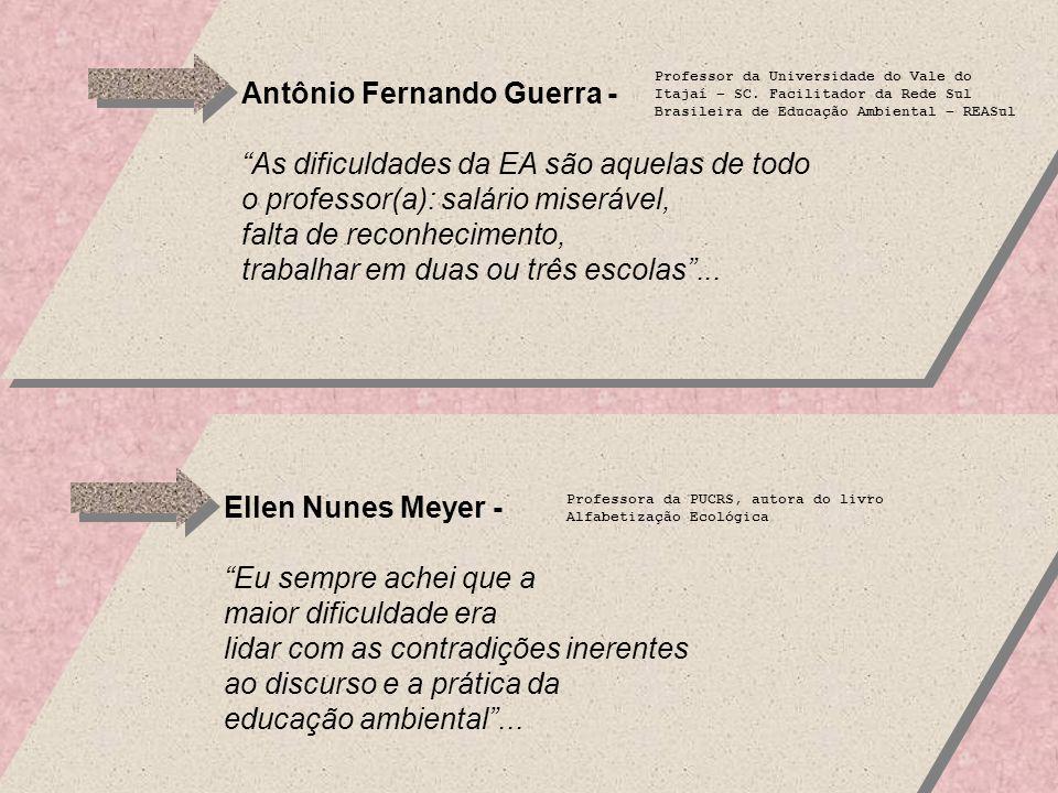 Antônio Fernando Guerra - As dificuldades da EA são aquelas de todo