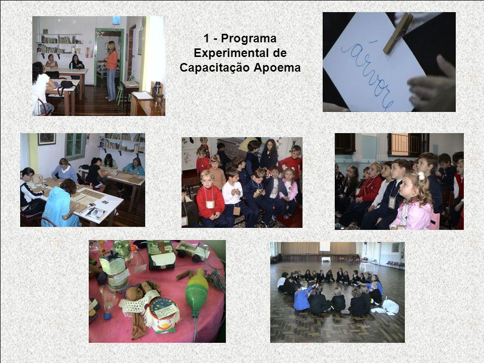 1 - Programa Experimental de Capacitação Apoema