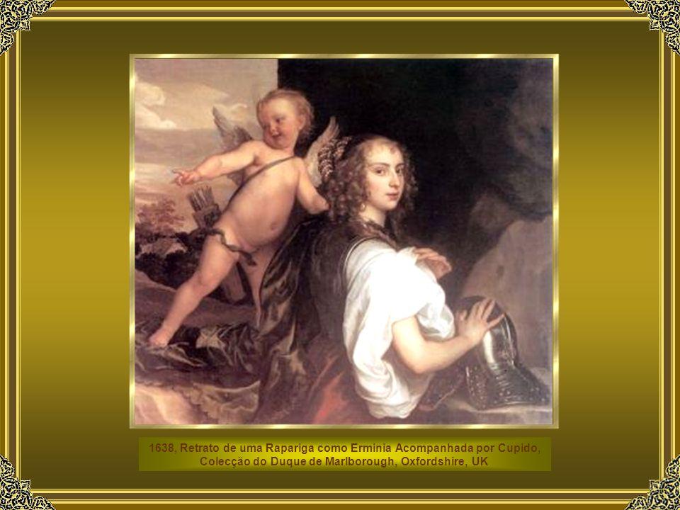 1638, Retrato de uma Rapariga como Erminia Acompanhada por Cupido, Colecção do Duque de Marlborough, Oxfordshire, UK