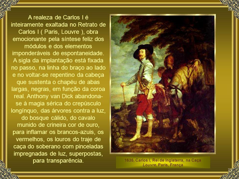 1635, Carlos I, Rei de Inglaterra, na Caça Louvre, Paris, França