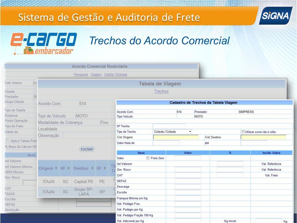 Sistema de Gestão e Auditoria de Frete