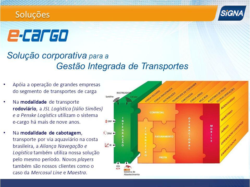 Soluções Solução corporativa para a Gestão Integrada de Transportes