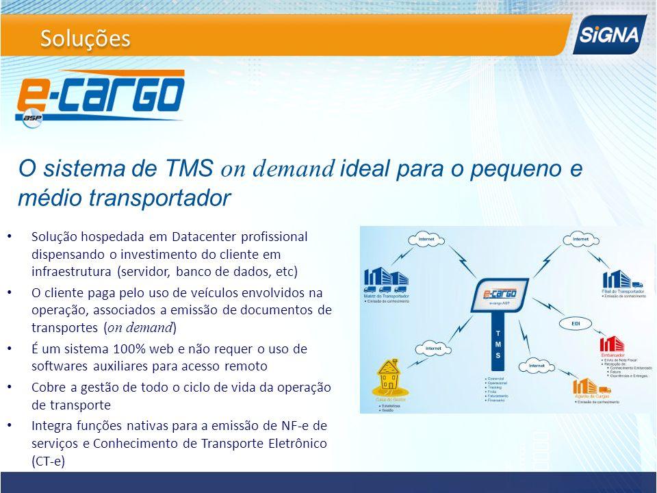 Soluções O sistema de TMS on demand ideal para o pequeno e médio transportador.