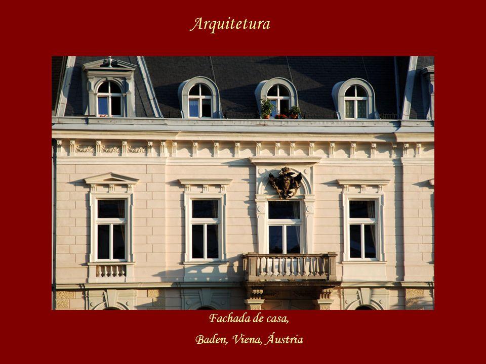 Arquitetura Fachada de casa, Baden, Viena, Áustria