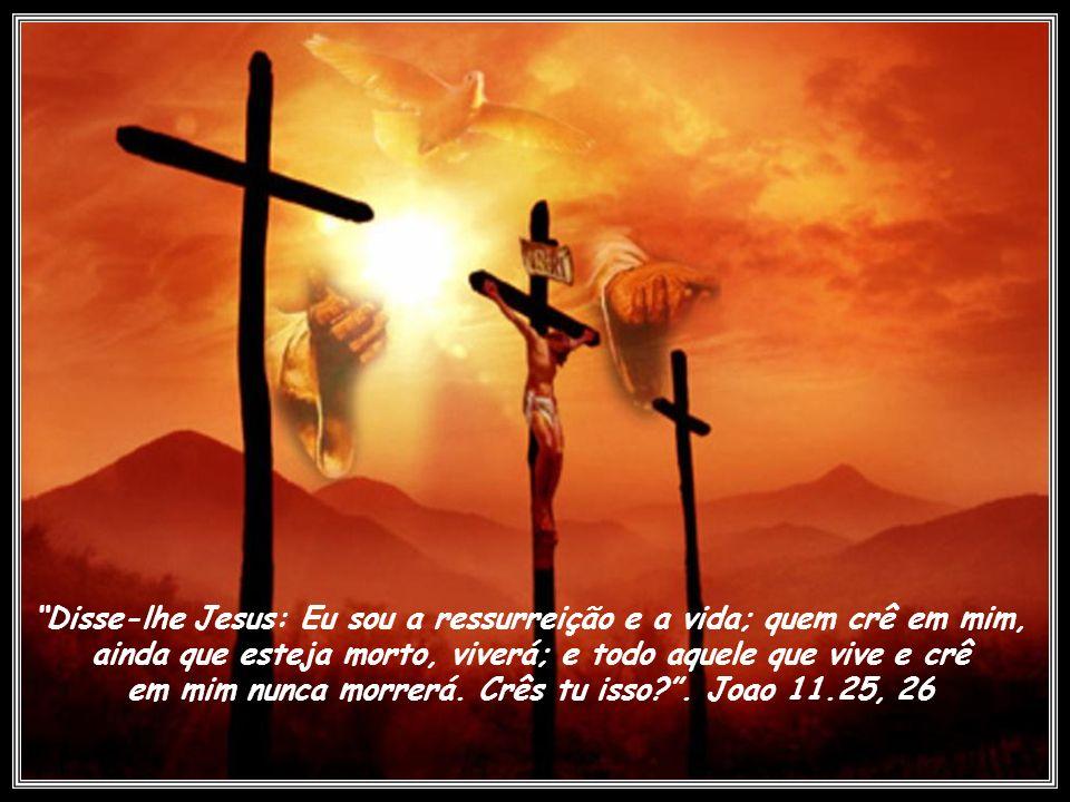 Disse-lhe Jesus: Eu sou a ressurreição e a vida; quem crê em mim,