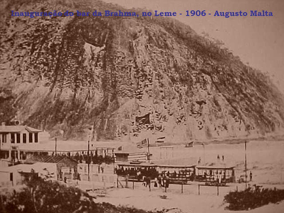 Inauguração do bar da Brahma, no Leme - 1906 - Augusto Malta