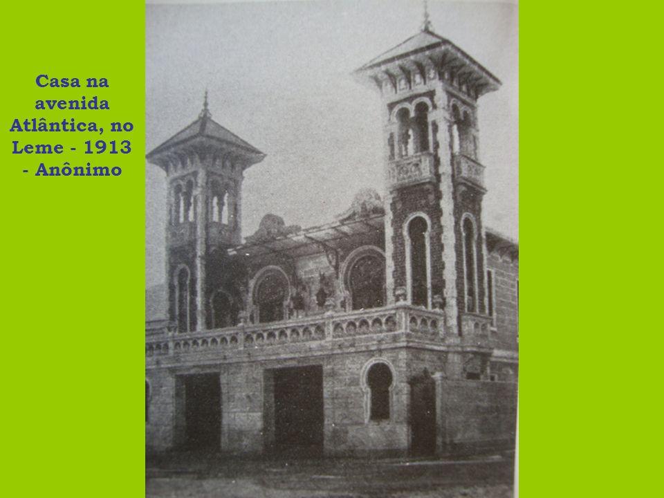 Casa na avenida Atlântica, no Leme - 1913 - Anônimo