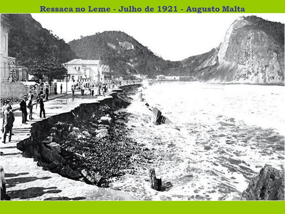 Ressaca no Leme - Julho de 1921 - Augusto Malta