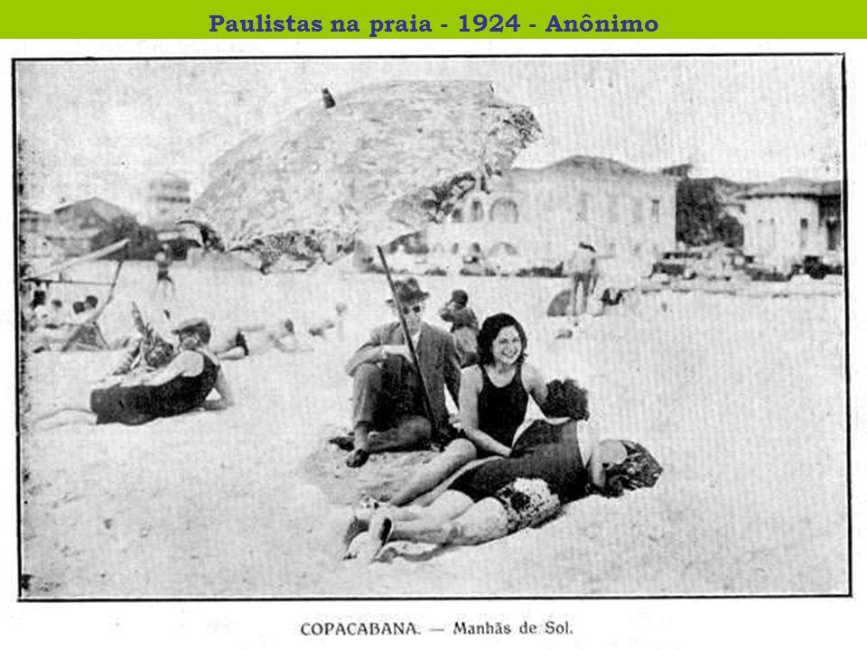 Paulistas na praia - 1924 - Anônimo