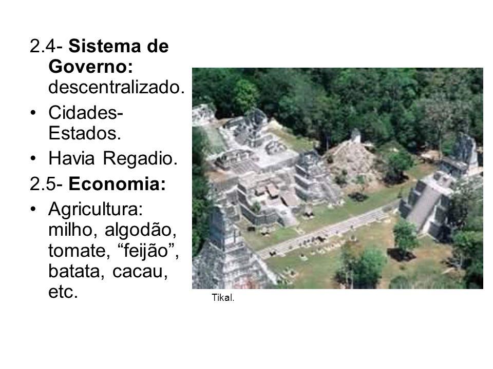 2.4- Sistema de Governo: descentralizado.