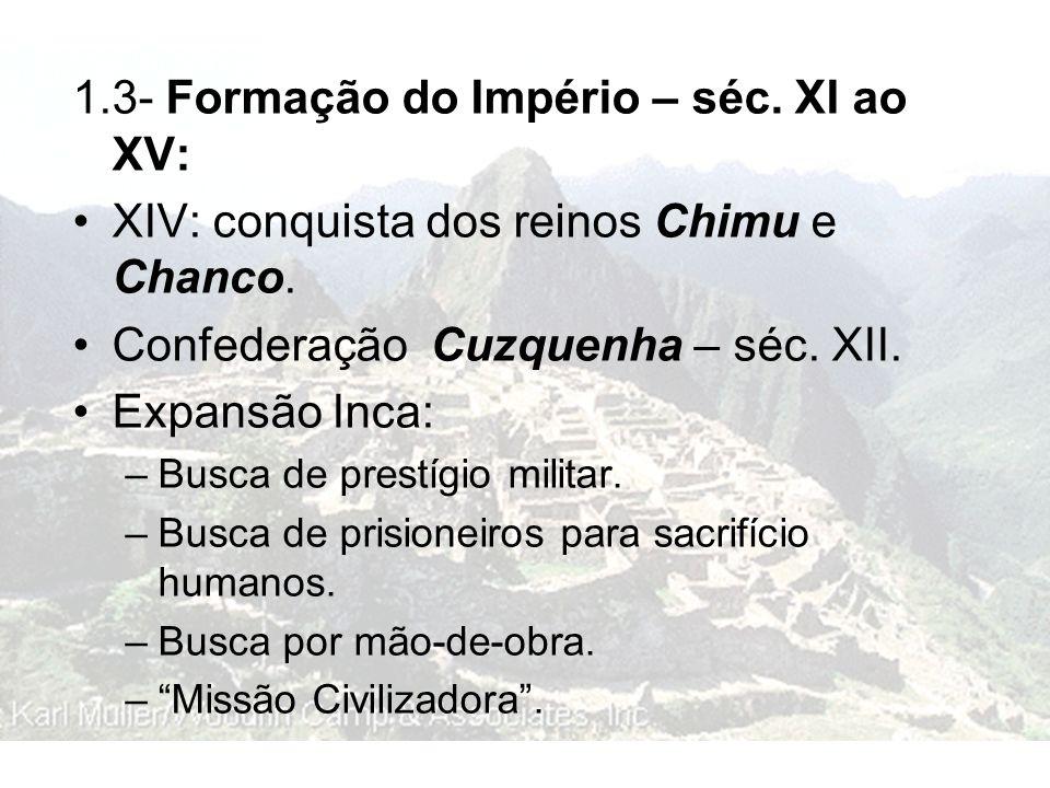1.3- Formação do Império – séc. XI ao XV: