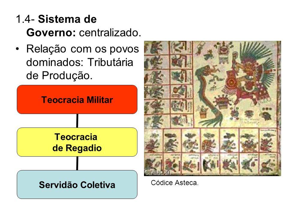 1.4- Sistema de Governo: centralizado.