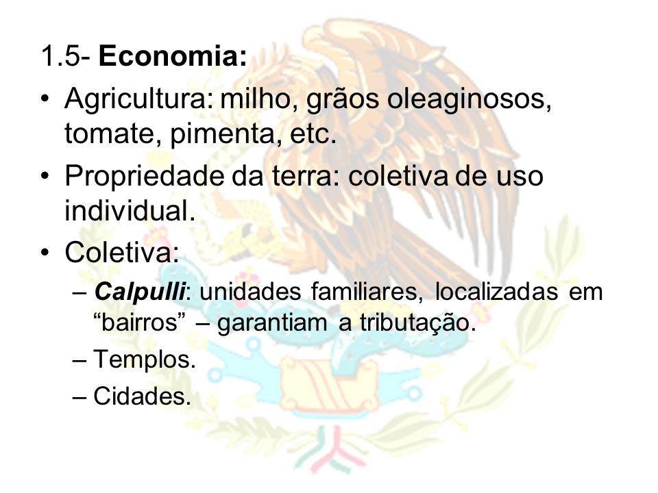 Agricultura: milho, grãos oleaginosos, tomate, pimenta, etc.