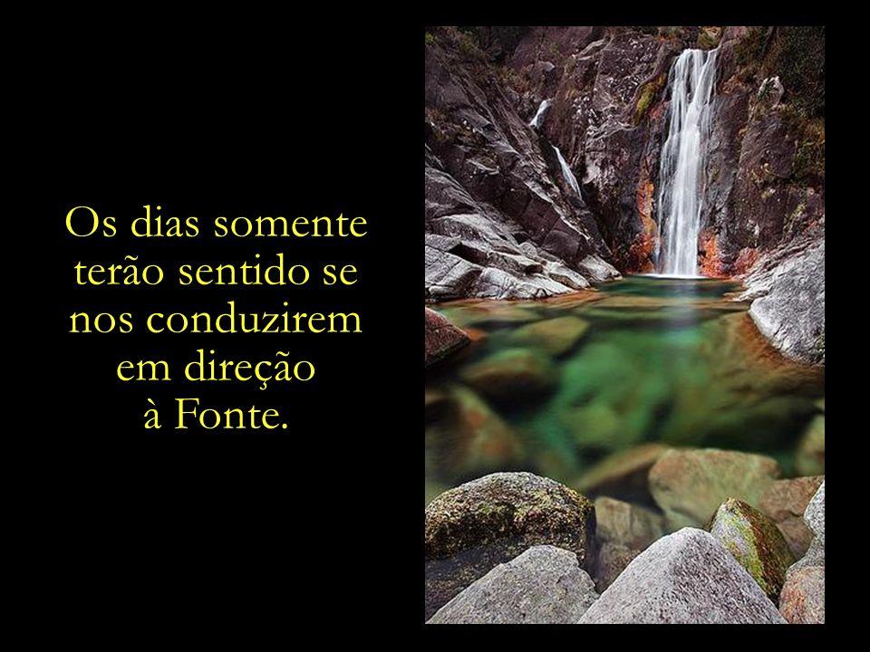 Os dias somente terão sentido se nos conduzirem em direção à Fonte.