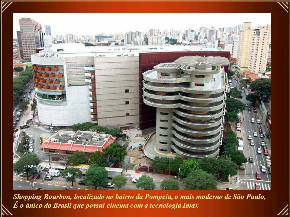 Shopping Bourbon, localizado no bairro da Pompeia, o mais moderno de São Paulo,
