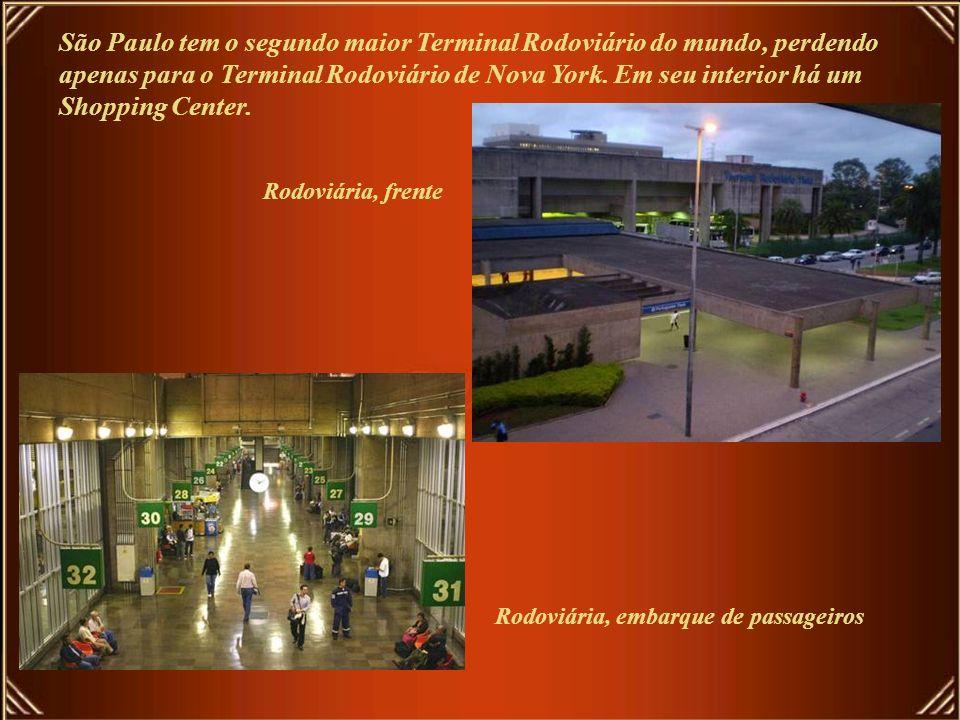 São Paulo tem o segundo maior Terminal Rodoviário do mundo, perdendo apenas para o Terminal Rodoviário de Nova York. Em seu interior há um Shopping Center.