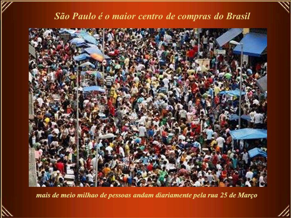 São Paulo é o maior centro de compras do Brasil