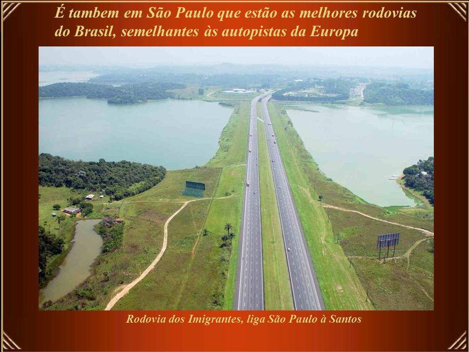 Rodovia dos Imigrantes, liga São Paulo à Santos