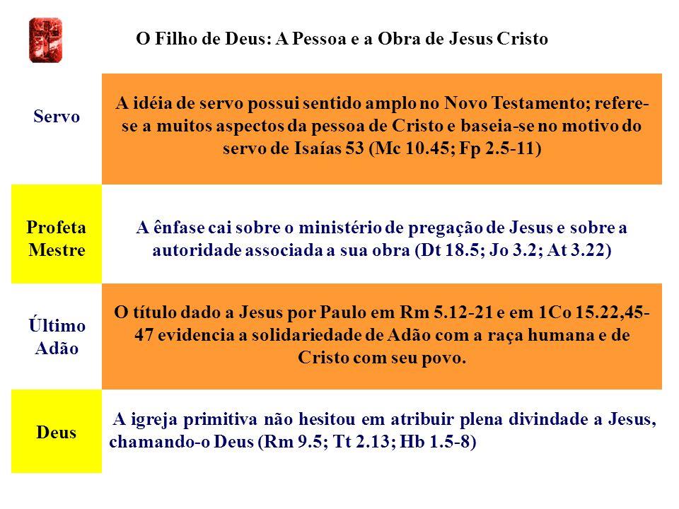 O Filho de Deus: A Pessoa e a Obra de Jesus Cristo