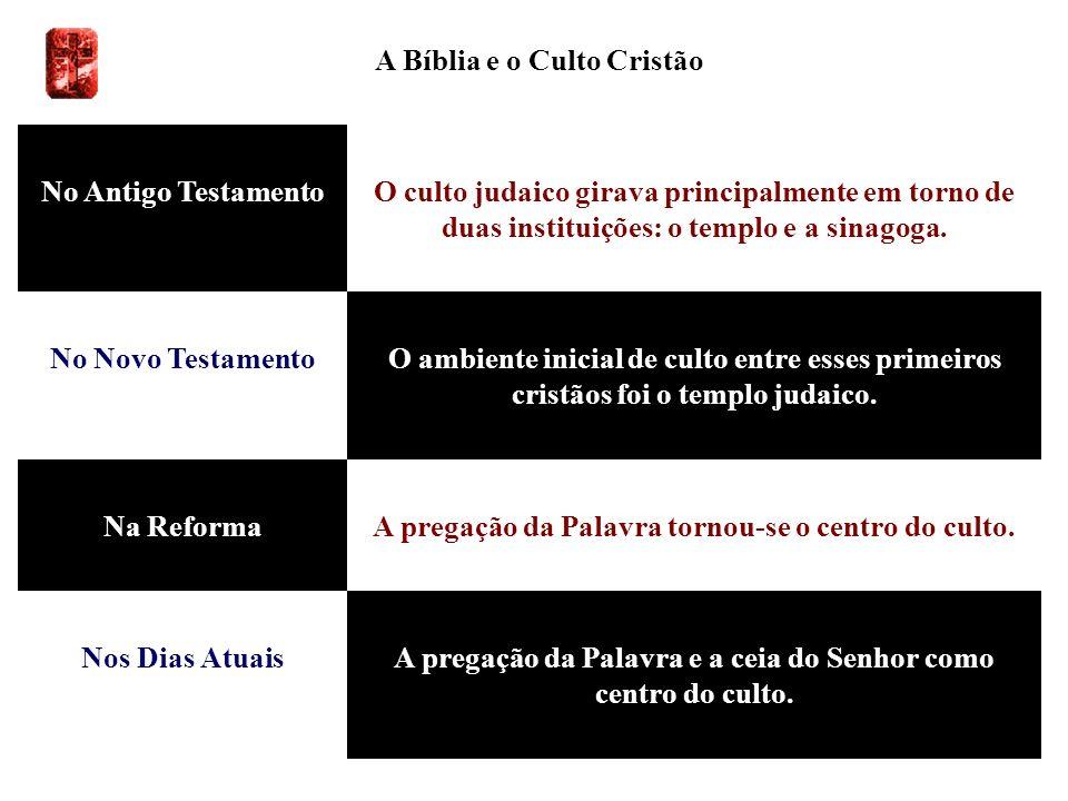 A Bíblia e o Culto Cristão