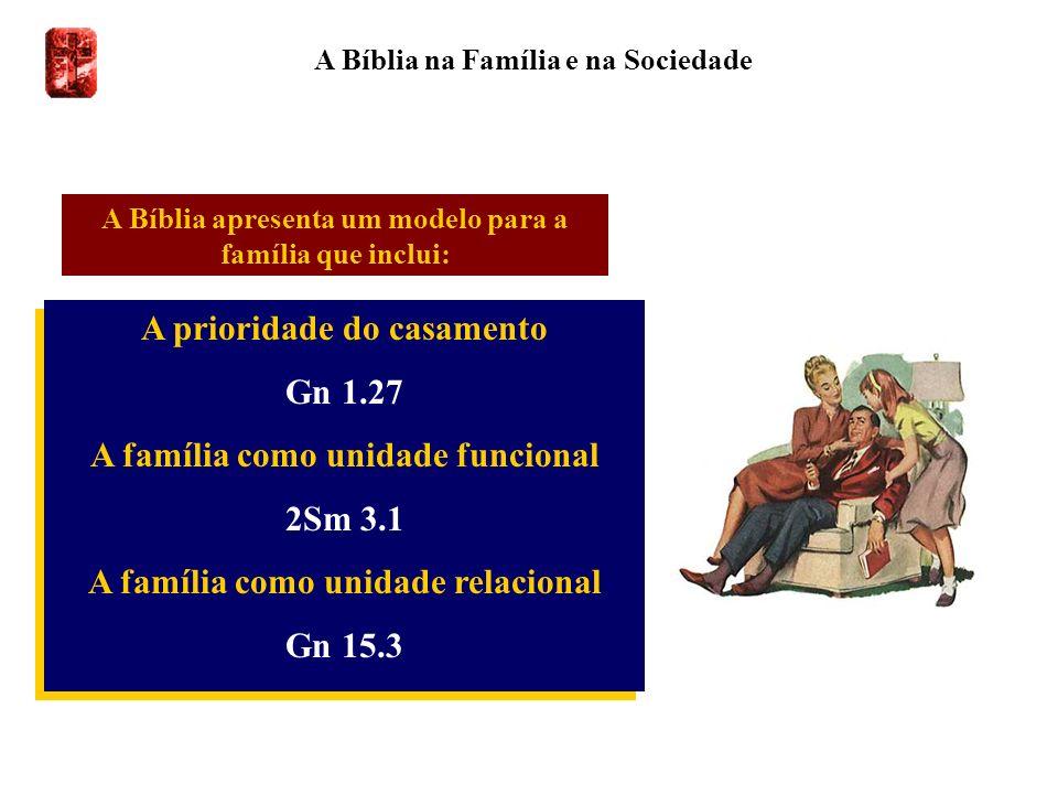 A Bíblia na Família e na Sociedade