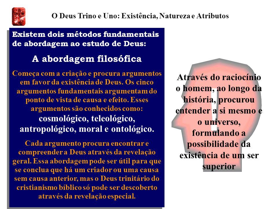 O Deus Trino e Uno: Existência, Natureza e Atributos