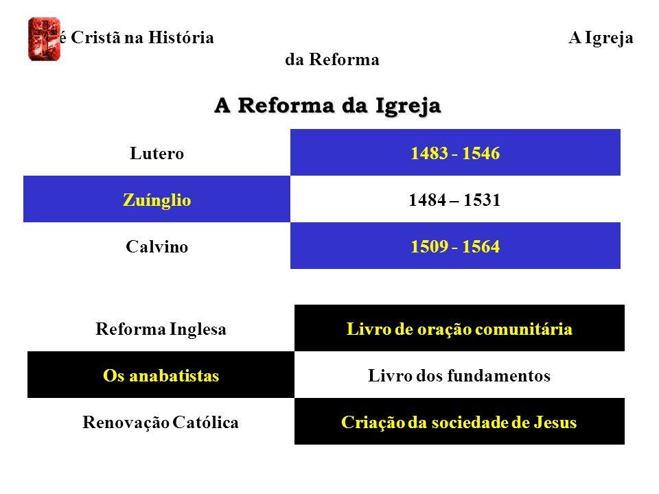 A Reforma da Igreja A Fé Cristã na História A Igreja da Reforma
