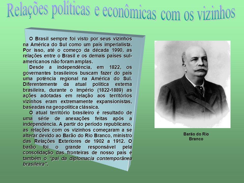Relações políticas e econômicas com os vizinhos