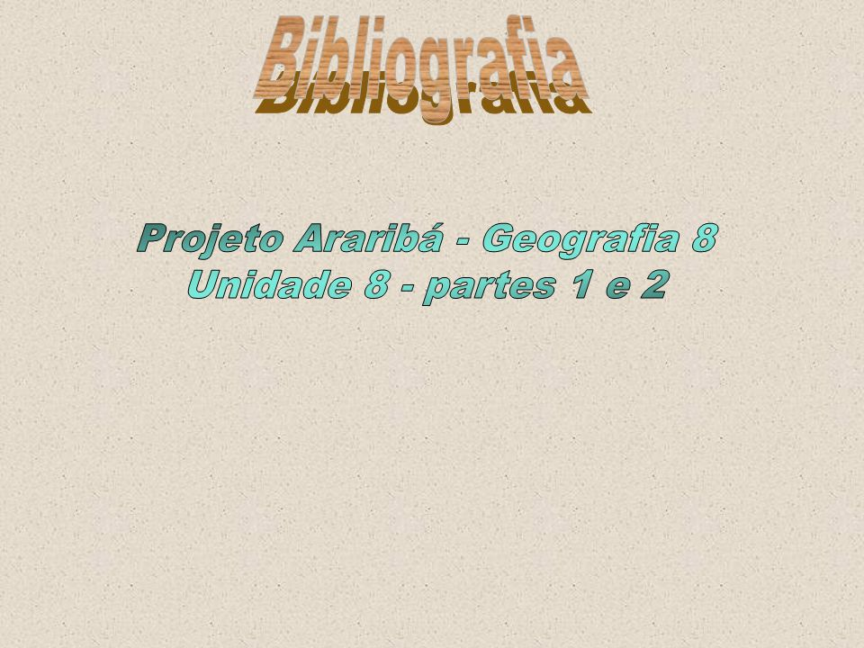 Projeto Araribá - Geografia 8
