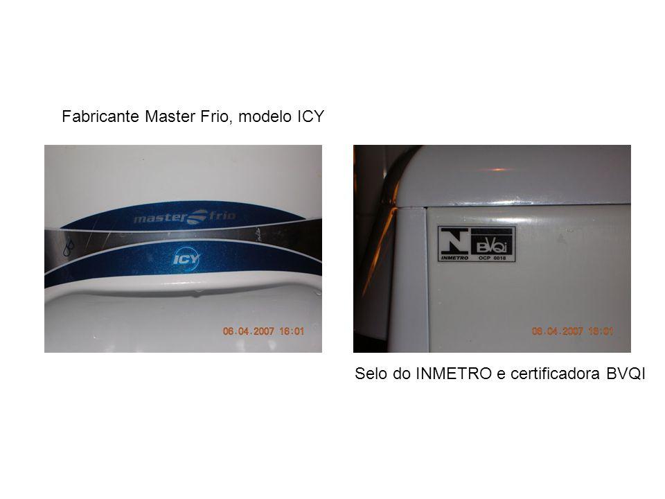Fabricante Master Frio, modelo ICY