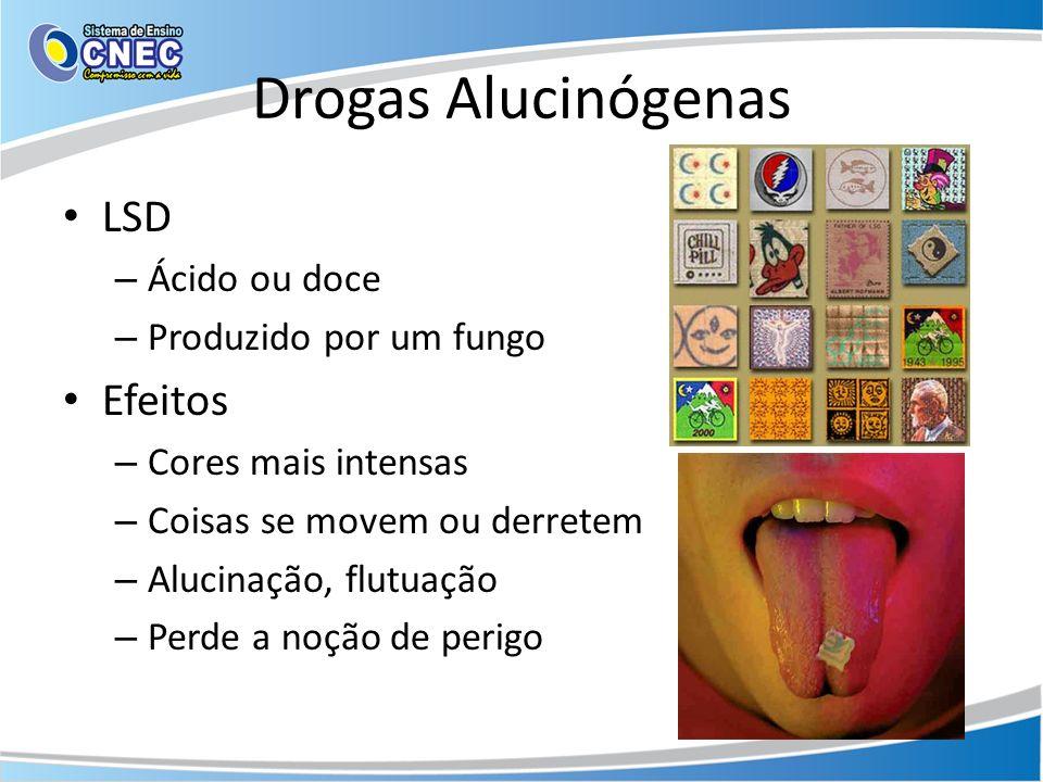 Drogas Alucinógenas LSD Efeitos Ácido ou doce Produzido por um fungo