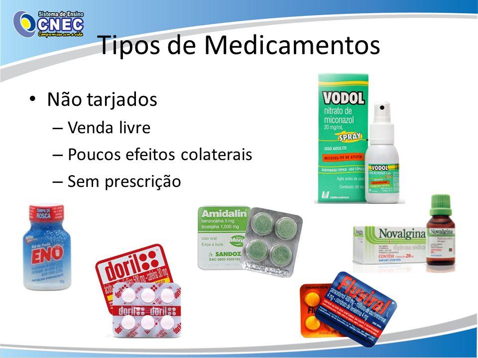 Tipos de Medicamentos Não tarjados Venda livre