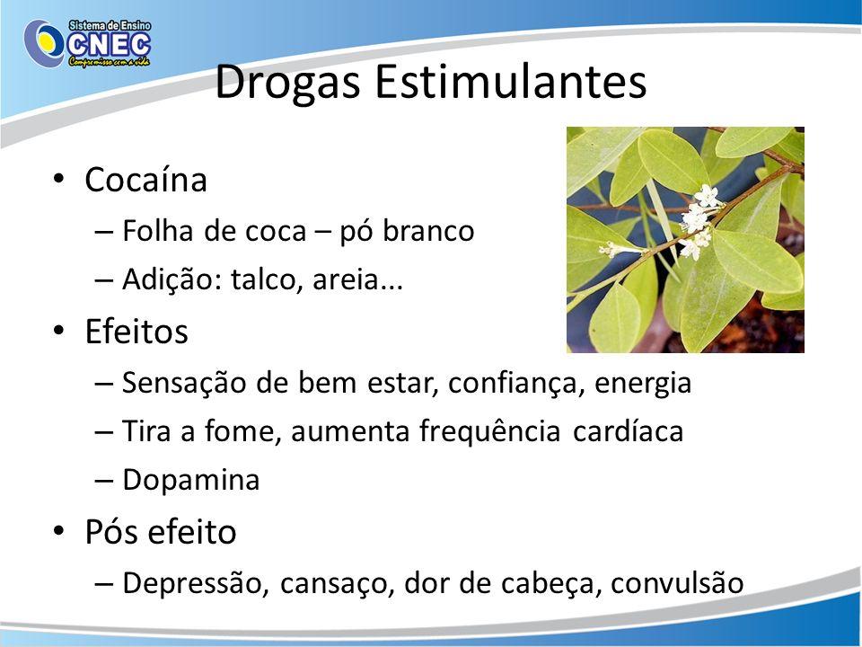 Drogas Estimulantes Cocaína Efeitos Pós efeito