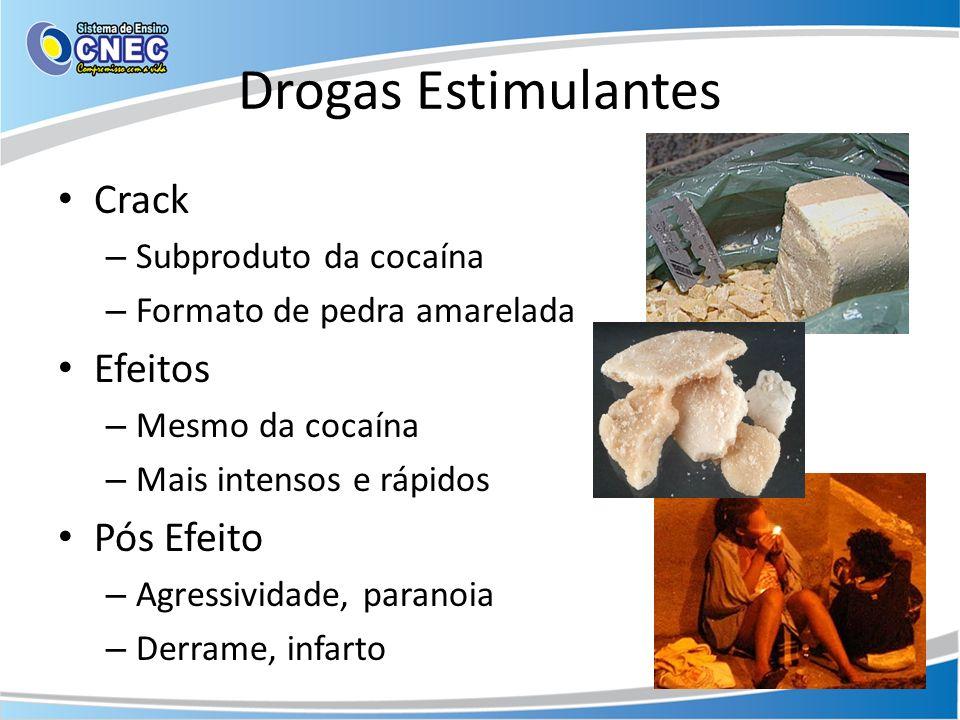 Drogas Estimulantes Crack Efeitos Pós Efeito Subproduto da cocaína