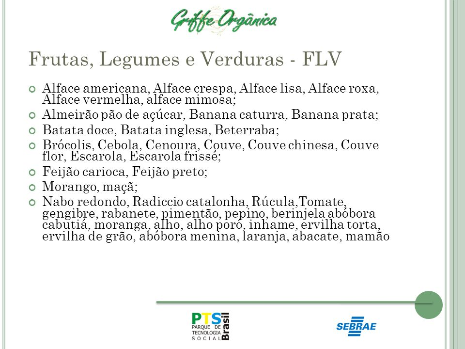 Frutas, Legumes e Verduras - FLV