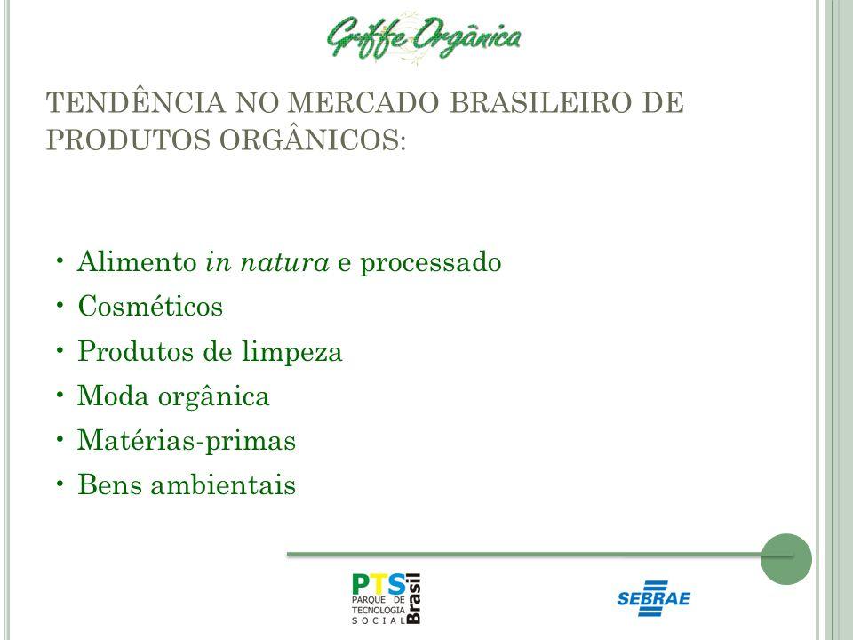 TENDÊNCIA NO MERCADO BRASILEIRO DE PRODUTOS ORGÂNICOS: