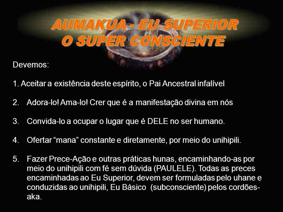 AUMAKUA - EU SUPERIOR O SUPER CONSCIENTE Devemos: