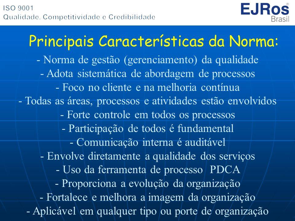 Principais Características da Norma: