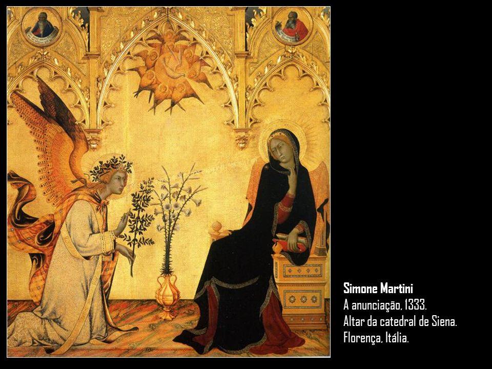 Simone Martini A anunciação, 1333. Altar da catedral de Siena. Florença, Itália.