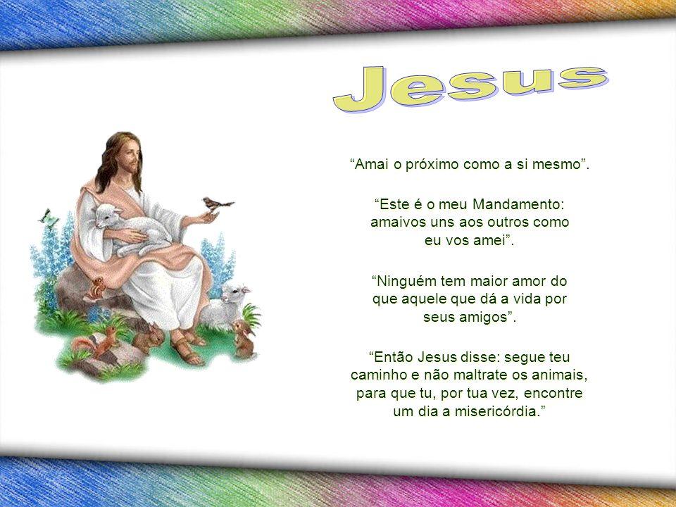 Jesus Amai o próximo como a si mesmo .